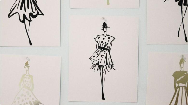 طراحی لباس و نقاشی
